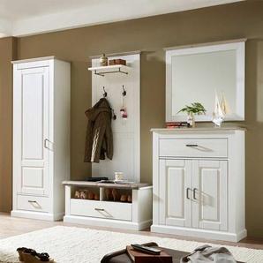 Flurmöbel Set in Weiß Taupe skandinavisches Design (5-teilig)