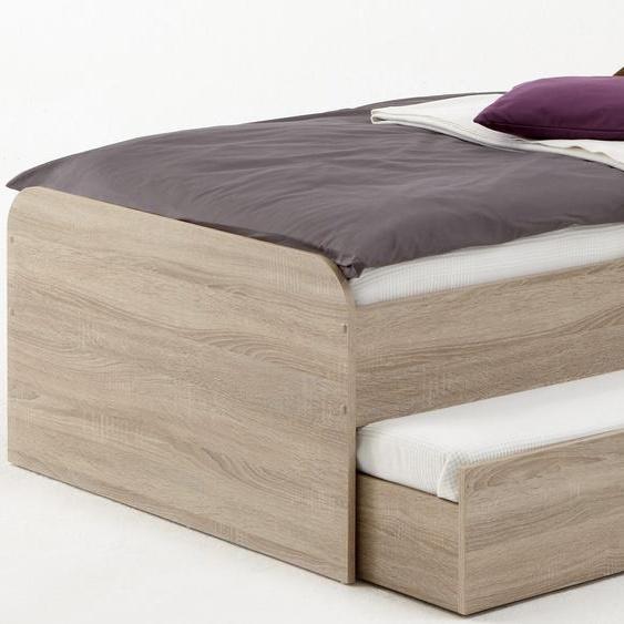 FMD Funktionsbett 90x200 cm beige Kinder Kinderbetten Kindermöbel Daybetten