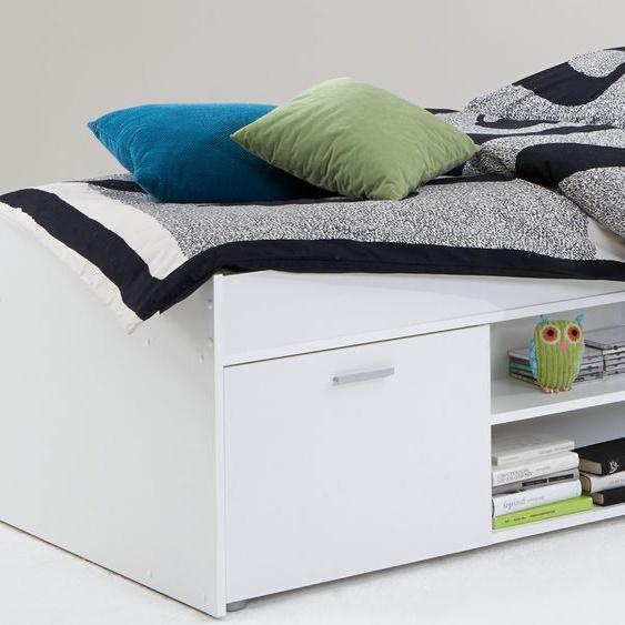 FMD Funktionsbett 90x200 cm weiß Kinder Kinderbetten Kindermöbel Daybetten