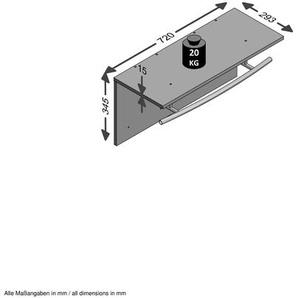 FMD Garderobenpaneel Spot 0, Einheitsgröße grau Garderobenpaneele Garderoben