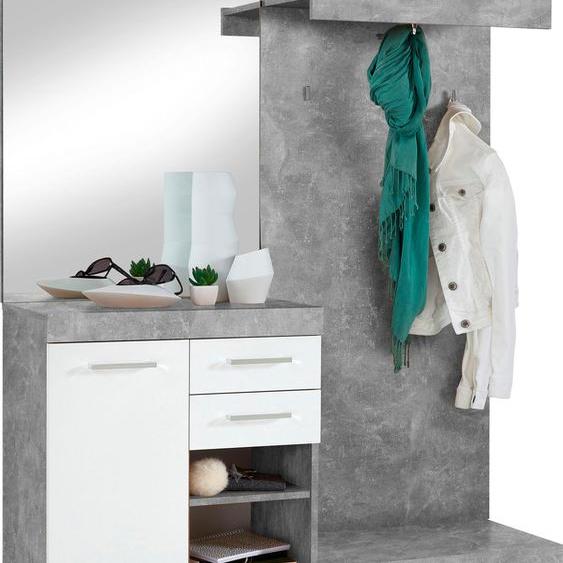 FMD Garderobenschrank Bristol 120 x 193,5 35,5 (B H T) cm, 1-türig weiß Kompaktgarderoben Garderoben Schränke