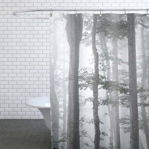 Foggy Autumn Forest - Duschvorhang