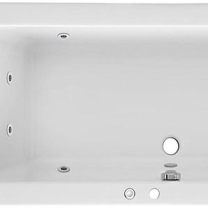 FOND Whirlpool-Badewanne »Cubic«, (Komplett-Set, 1-tlg), Typ 1, chrom
