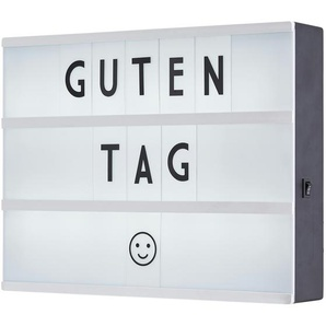 for friends LED-Message-Box, Weiß - schwarz - 5 cm - 22 cm | Möbel Kraft
