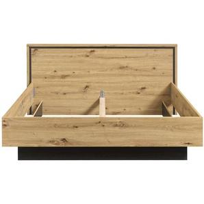 FORTE Doppelbett, Eiche, Holz
