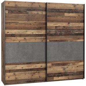 FORTE Schwebetürenschrank, Braun, Holz