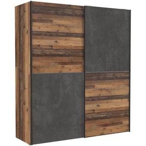 FORTE Schwebetürenschrank, Vintage, Holz