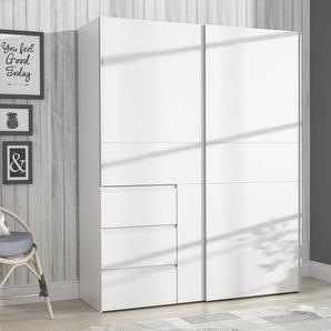 FORTE Schwebetürenschrank Winn B/H/T: 170 cm x 200,5 61 cm, 2 weiß Schwebetürenschränke Kleiderschränke