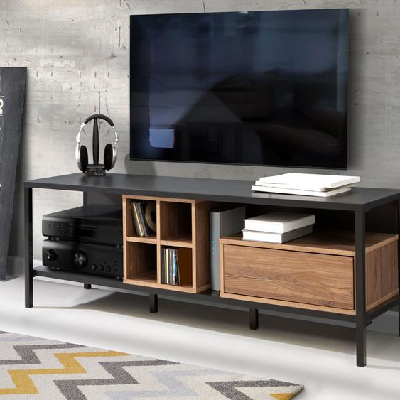 FORTE TV-Board, Breite 150 cm B/H/T: x 48,7 42 cm, Anzahl Schubladen: 1 braun TV-Regale HiFi-Regale Regale Kleinmöbel TV-Board