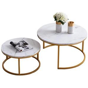 Fortuna Lai Couchtisch »Satztische,Beistelltisch,Kaffeetisch« (2er-Set), 2 in 1 Verschachtelung, Großer Tisch: 80X80X45cm, Kleiner Tisch: 60X60X33cm