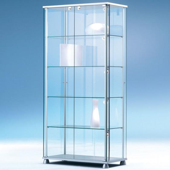 FORUM Glasvitrine mit Fl�gelt�ren b83xt43xh176cm