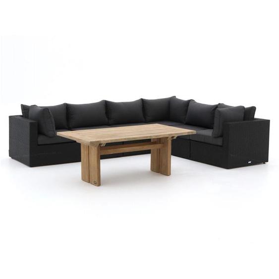 Forza Barolo/ROUGH-L Esstisch Lounge-Set 7-teilig