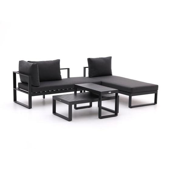 Forza Martone Chaiselongue Lounge-Set 4-teilig