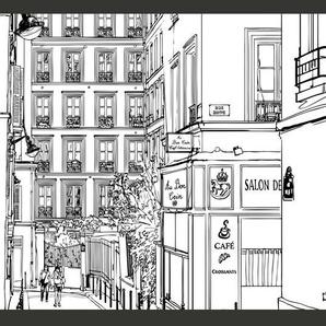 Fototapete A Walk through Parisian sTreets 270 cm x 350 cm