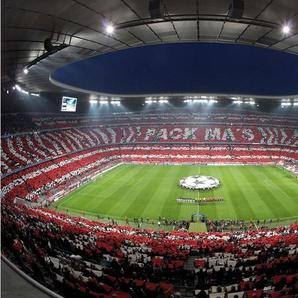 Fototapete »Bayern München Stadion Choreo Pack Mas«, mehrfarbig,