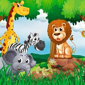 PAPERMOON Fototapete »Jungle Animals«, Vlies, in verschiedenen Größen