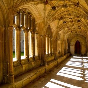 PAPERMOON Fototapete »Sunlit Abbey«, Vlies, in verschiedenen Größen