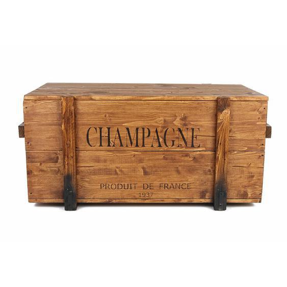 Frachtkiste Champagne aus Massivholz