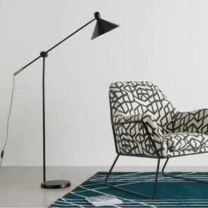 Frame Sessel, Schwarz und Cremeweiss