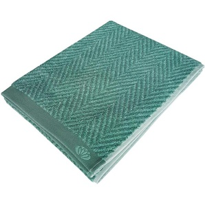 framsohn frottier Saunatuch Homely, (1 St.), mit Fischgrätdesign B/L: 75 cm x 200 St.) grün Handtücher Badetücher