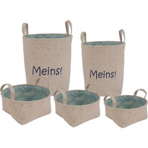 Franz Müller Flechtwaren Aufbewahrungsbox »Kids - Meins« (Set, 5 Stück), 5er Set