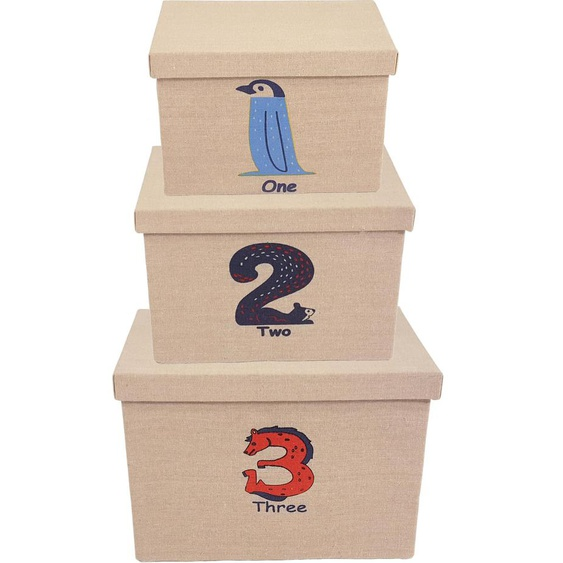 Franz Müller Flechtwaren Aufbewahrungsbox Kids (Set, 3 Stück) 18 / 22 26x28 32 36x19 25 cm beige Boxen Truhen, Kisten Körbe Schlafzimmer Aufbewahrungsboxen
