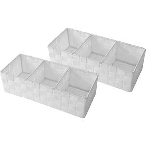 Franz Müller Flechtwaren Aufbewahrungsbox (Set, 2 Stück), mit praktischer Facheinteilung