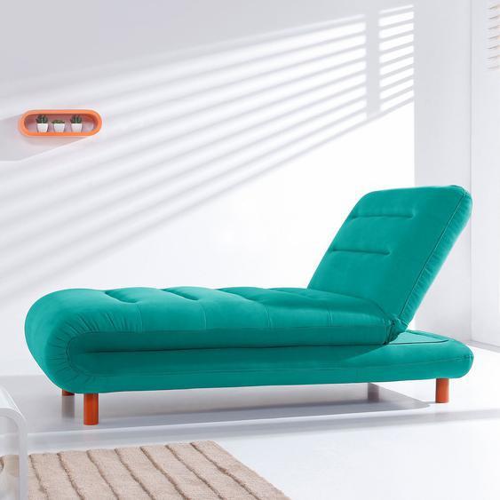 Fredriks Chaiselongue Energy Türkis Webstoff 162x88x87 cm (BxHxT) mit Schlaffunktion Modern
