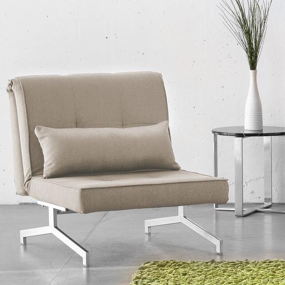 Fredriks Schlafsessel Cardini Uno Beige-Grau Webstoff mit Schlaffunktion 84x92x95 cm (BxHxT)