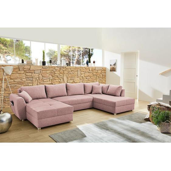 Fredriks Wohnlandschaft Delicias Rosa 100% Polyester 345x87x198 cm (BxHxT)