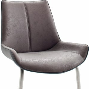Freischwinger, 2er Set, grau, Material Kunstleder / Edelstahl »Danita A«, MCA furniture