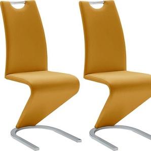 Freischwinger 2er- »Amado«, gelb, Set, 2 Stück, stabil, , , MCA furniture
