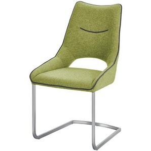 Freischwinger  Lenira ¦ grün ¦ Maße (cm): B: 62 H: 96 T: 53 Stühle  Esszimmerstühle  Esszimmerstühle ohne Armlehnen » Höffner