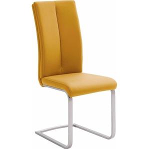 Freischwinger, gelb, 4 Stück, MCA furniture