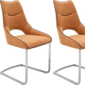 Freischwinger-Stuhl , gelb, 2 Stück, »ALDRINA«,