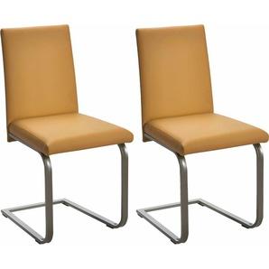 SCHÖSSWENDER Freischwinger-Stuhl, gelb, 2 Stück, FSC®-zertifiziert