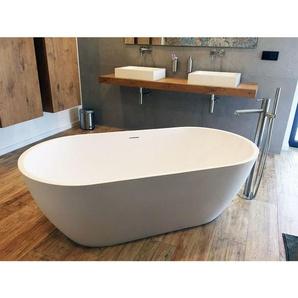 Freistehende Badewanne Montecristo aus Mineralguss in glänzend von Bädermax