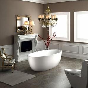Freistehende Badewanne TERRA Acryl Weiß matt - 186 x 88 x 60 cm - Standarmatur wählbar Ohne Standarmatur, Ohne Siphon - BERNSTEIN