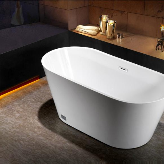 Freistehende Badewanne TWIGGY - 181 L - Weiß