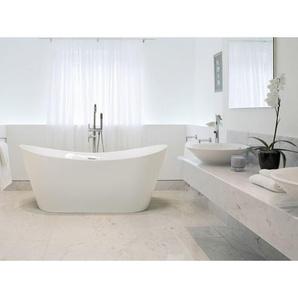 Beliani - Freistehende Badewanne Weiß Sanitäracryl Oval 150 x 75 cm Modern