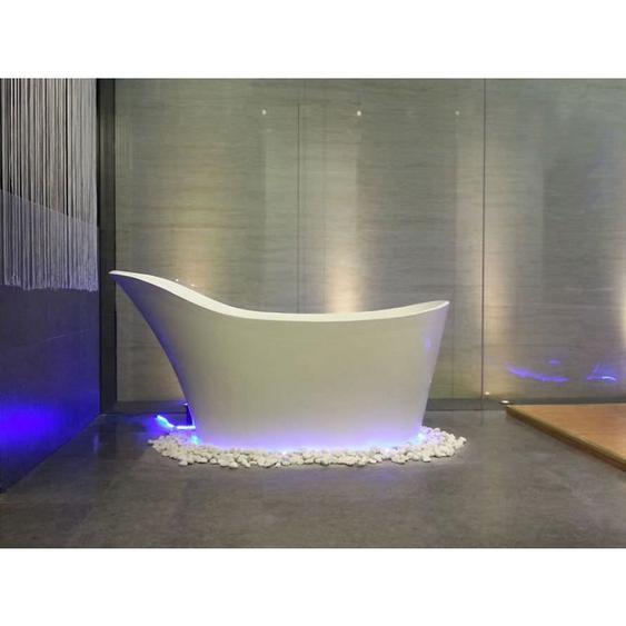 Freistehende Nostalgie Badewanne Napoli aus Mineralguss in matt von - Bädermax