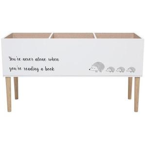 Freistehendes Bücherregal für Kinder in Weiß aus Kiefernholz