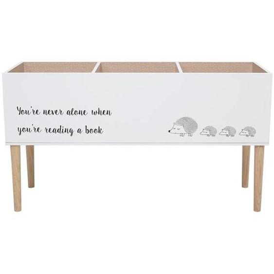 Freistehendes Bücherregal für Kinder in Weiß aus Holz 90 x 50 x 30 cm