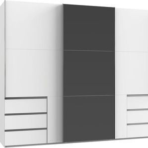 fresh to go Schwebetürenschrank, 300 x 236 x 65 BxHxT cm, weiß »Level«, mit Schubkästen