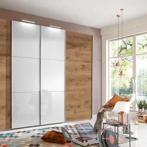 fresh to go Schwebetürenschrank, 295 x 236 x 65 BxHxT cm, beige, Material Glas »Escape«