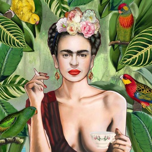 Frida Con Amigos - Acrylglasbild