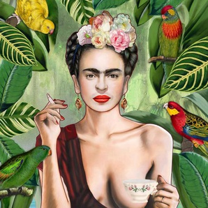 Frida Con Amigos - Leinwandbild