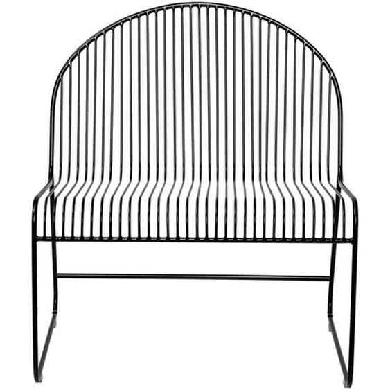 Lounge Stuhl Friend aus Metall in Schwarz 72 x 80 x 62,5 cm