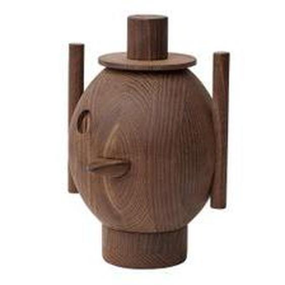 Fritz Hansen - Geo Holzskulptur, Ø 12,9 x H 18,4 cm, Esche dunkel