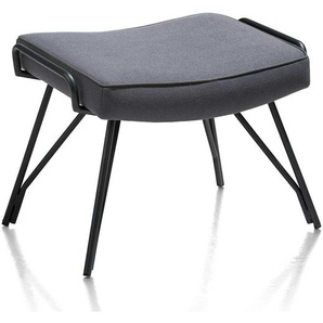 Fu�hocker in Anthrazit Stoff 4-Fu� Gestell aus Metall